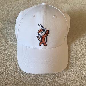 Brand new adjustable hat - handwoven golf tiger